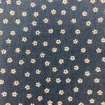 """Ткань джинс синяя с принтом """"Цветок-1"""" (48x50см) """"Magic4Toys"""""""
