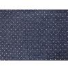 """Ткань джинс т. синяя с принтом """"Горошек маленький"""" (48x50см) """"Magic4Toys"""""""
