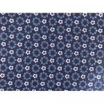 """Ткань джинс синяя с принтом """"Цветок-4"""" (48x50см) """"Magic4Toys"""""""