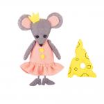 """Набор для шитья игрушки """"Мышка с сыром"""" 12см """"Miadolla"""""""