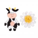 """Набор для шитья игрушки """"Весёлая коровка"""" 12см """"Miadolla"""""""
