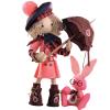 """Набор для шитья текстильной каркасной куклы """"Шоколадница бэби"""" """"Нова Слобода"""""""