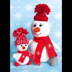 """Набор для шитья игрушки """"Снегомама и снегодочка"""" """"Перловка"""""""