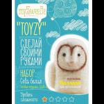 """Набор для валяния игрушки """"Сова белая для начинающих"""" """"TOYZY"""""""