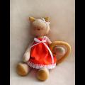 """Набор для шитья игрушки C001 Cats Story 27см """"Ваниль"""""""