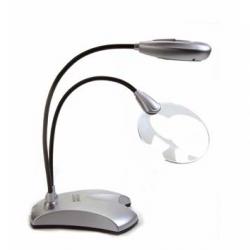 Лампа с 6 светодиодами и лупой