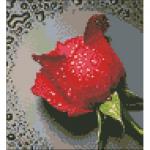 """Набор для картины стразами """"Красная роза"""" """"Алмазная живопись"""""""