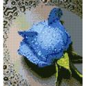 """Набор для картины стразами """"Синяя роза"""" """"Алмазная живопись"""""""