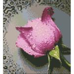 """Набор для картины стразами """"Розовая роза"""" """"Алмазная живопись"""""""