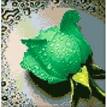 """Набор для картины стразами """"Зеленая роза"""" """"Алмазная живопись"""""""