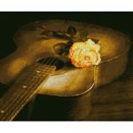 """Набор для картины стразами """"Гитара и роза"""" """"Алмазная живопись"""""""