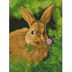 """Набор для картины стразами """"Кролик на обеде"""" """"Алмазная живопись"""""""
