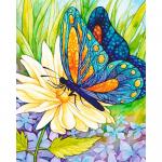 """Набор для картины стразами """"Бабочка и цветок"""" """"Алмазная живопись"""""""