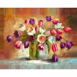"""Набор для картины стразами """"Цветы тюльпанов"""" """"Алмазная живопись"""""""