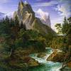 """Набор для картины стразами """"Река у подножья горы"""" """"Алмазная живопись"""""""