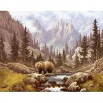 """Набор для картины стразами """"Медведь на воле"""" """"Алмазная живопись"""""""