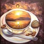 """Набор для картины стразами """"Кофейное путешествие"""" """"Алмазная живопись"""""""