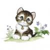 """Набор для картины стразами """"Малыш-котенок"""" """"Алмазная живопись"""""""