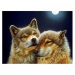 """Набор для картины стразами """"Волк и волчица"""" """"Алмазная живопись"""""""