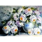 """Набор для картины стразами """"Белые розы"""" """"Алмазная живопись"""""""