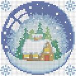 """Набор для картины стразами """"Новогодний шарик с домиком"""" """"Алмазная живопись"""""""
