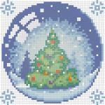 """Набор для картины стразами """"Новогодний шарик с елкой"""" """"Алмазная живопись"""""""