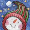 """Набор для картины стразами """"Портрет снеговика"""" """"Алмазная живопись"""""""