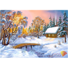 """Набор для картины стразами """"Избушка в зимнем лесу"""" """"Алмазная живопись"""""""