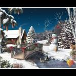 """Набор для картины стразами """"Новый год в деревне"""" """"Алмазная живопись"""""""