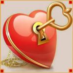 """Набор для картины стразами """"Ключ от сердца"""" """"Алмазная живопись"""""""