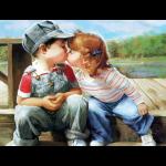 """Набор для картины стразами """"Поцелуй"""" """"Алмазная живопись"""""""