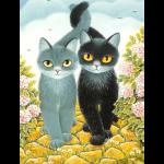 """Набор для картины стразами """"Коты"""" """"Алмазная живопись"""""""