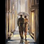"""Набор для картины стразами """"Двое под зонтом"""" """"Алмазная живопись"""""""