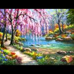 """Набор для картины стразами """"Сакура у реки"""" """"Алмазная живопись"""""""