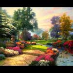 """Набор для картины стразами """"Живописный парк"""" """"Алмазная живопись"""""""
