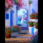 """Набор для картины стразами """"Улочка в Греции"""" """"Алмазная живопись"""""""