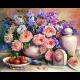 """Набор для картины стразами """"Розовый натюрморт"""" """"Алмазная живопись"""""""