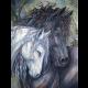 """Набор для картины стразами """"Пара лошадей"""" """"Алмазная живопись"""""""