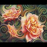 """Набор для картины стразами """"Розы в абстракции"""" """"Алмазная живопись"""""""