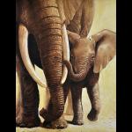 """Набор для картины стразами """"Слоненок с мамой"""" """"Алмазная живопись"""""""