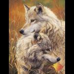 """Набор для картины стразами """"Волчья нежность"""" """"Алмазная живопись"""""""