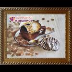 """Набор для картины стразами """"Бодрящий кофе"""" """"Алмазная живопись"""""""