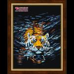"""Набор для картины стразами """"Плывущий тигр"""" """"Алмазная живопись"""""""