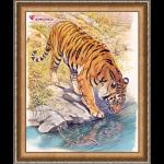"""Набор для картины стразами """"Тигр у реки"""" """"Алмазная живопись"""""""