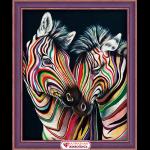 """Набор для картины стразами """"Цветные зебры"""" """"Алмазная живопись"""""""