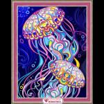 """Набор для картины стразами """"Пара медуз"""" """"Алмазная живопись"""""""