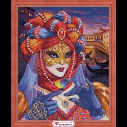 """Набор для картины стразами """"Венецианская дама"""" """"Алмазная живопись"""""""