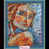 """Набор для картины стразами """"Витражный портрет"""" """"Алмазная живопись"""""""