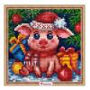 """Набор для картины стразами """"Новогодняя свинка"""" """"Алмазная живопись"""""""