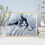 """Набор для картины стразами """"Кот под одеялом"""" """"Алмазная живопись"""""""
